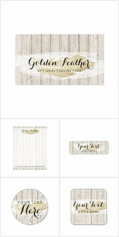 Golden Feather Small Business Branding Printables Collection on @zazzle
