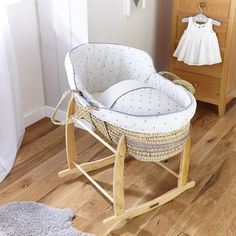 The latest trend for the nursery is the High Top, try the Lullaby Hearts High Top Palm Moses Basket and up your style in the baby's bedroom!