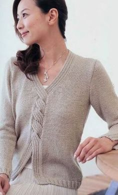 Пуловер оригинального фасона спицами. Обсуждение на LiveInternet - Российский Сервис Онлайн-Дневников