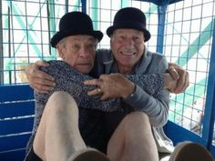 19 Photos of BFFs Patrick Stewart and Ian McKellen that Will Make You Jealous from You're Doing It Right