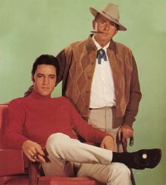 "Elvis and Parker. Elvis A. Presley (January 8, 1935 – August 16, 1977) - American singer, musician, and actor, known commonly as ""The King of Rock and Roll"" or simply ""The King""...."