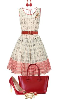 """Retro Red Outfit"" by angela-windsor on Polyvore"