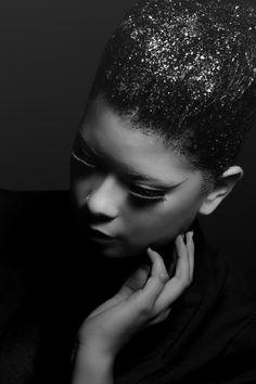 Hair by Me #Scixxorhands Make up by RS model Miranda  Photo by Phillip Matthew #glitterhair