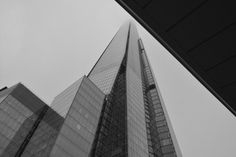 The shard in a nice black and white setting on a misty day Misty Day, The Shard, Etsy Store, Skyscraper, England, Art Print, London, Black And White, Digital