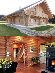 Why You Should Consider Buying a Log Cabin - Rustic Design Luxury Log Cabins, Prefab Cabins, Log Cabin Homes, Timber House, Wooden House, Log Home Kitchens, How To Build A Log Cabin, Cabins And Cottages, Cabin Design