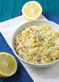 Toasted Orzo Risotto with Sweet Corn and Thyme ~ Savory Simple