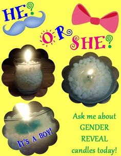 Make Gender Revel candle using Pink Zebra Sprinkles.  Check out how you can create Gender Reveal candles using Pink Zebra sprinkles! Contact me on facebook at www.facebook.com/scentsbyemilydeese #diygender #diybabyshower