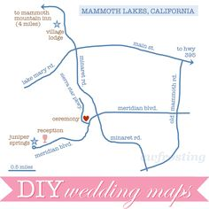 DIY Wedding Maps | c.w.frosting
