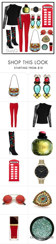 """❤️🦋Color Pop🦋❤️"" by suzettestokes ❤ liked on Polyvore featuring Valentino, Sorrelli, Levi's, self-portrait, Donald J Pliner, Yves Saint Laurent, Lulu Guinness, Topshop, ZeroUV and Chanel"