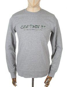 Carhartt Stain Script Sweatshirt - Grey Heather/Camo