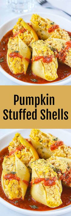 Pumpkin Stuffed Shells Vegan and Gluten-Free