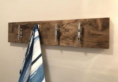 Nautical towel rack with stainless steel cleats Modern cleat hooks Bathroom towel holder Towel hooks Stainless steel cleats Cleats Entryway Towel Holder Bathroom, Towel Hooks, Towel Holders, Bathroom Storage Shelves, Entryway Storage, Entryway Decor, Boat Cleats, Wall Mount Rack, Mediterranean Decor