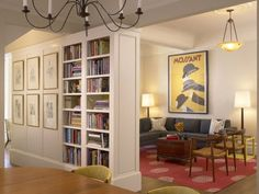 Traditional Living Room Bookcases Luxury Living Room and Bookcase Traditional Dining Room San Francisco by Jeff King & Pany Bookshelf Design, Bookshelves Built In, Bookcases, Living Room Bookcase, Indoor Water Fountains, Apartment Entryway, Small Hallways, Room Corner, Renovation
