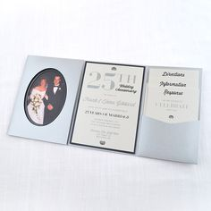 Cards and Pockets Signature Pocketframe Invitation