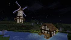 Windmill and House on Water Design