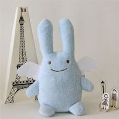 Trousselier music box for babies & kids soft toy bunny angel blue