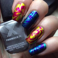 Hippie psychedelic patterns look absolutely smashing with the use of Formula X #InfiniteOmbre lacquers. This new kit was given to nail artist extraordinaire Annalisa as part of the Preen Me VIP Program.