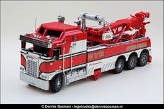 #LEGO Kenworth Wrecker.  Yes, it really is built with LEGO.  Amazingly detailed.