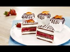 Minidezerty sKinder Mléčný řez Vanilla Cake, Nom Nom, Birthday Cake, Sweets, Desserts, Ferrero, Food, Advent, Youtube