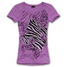 "S/S LARGE ZEBRA FLEUR DE LIS Shirt, Lavender fitted Tee. $28.00 + FREE shipping when you enter the coupon cod ""PINTEREST"" as you checkout online #fleurdelis #LSU #LA #madeinusa #fashion"