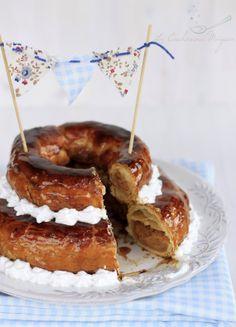 La Cucharina Mágica: Roscón de Pascua de hojaldre relleno de almendra {tradición asturiana}  #Asturias #Asturies #Spain