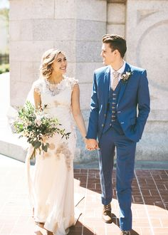 modest wedding dress with border sleeves and a slim skirt from alta moda (modest bridal gown)