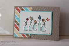 Stampin' up! Vivid Vases - Fine Paper Arts