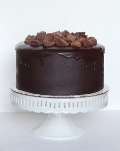 Peanut Butter and Chocolate Cake with Reese's