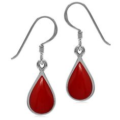 New Arrival Red Coral Sterling Silver Overlay 4 Grams Earring 1.75 Handmade Jewelry