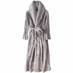 be76d329a2 Women and Men Ultra Long Ultra Thick Coral Fleece Flannel Full Length Plus  Size Bathrobe Robes
