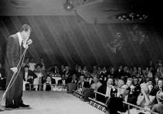 Dean Martin playing The Sands shortly after the breakup with Jerry Lewis.  Jack Benny, Lucy and Desi and many bigshots in the audience.  Dino was a gifted actor/singer/comedian.  The subject of my good friend Nick Tosches' biography Dino: Living High in the Dirty Business of Dreams, the best book about show business ever.