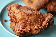 Popeye's Chicken is first brined in buttermilk. Creating a tender piece of chicken.