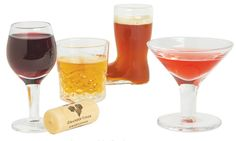 Drink your shots in style with a Mini Cocktail Shot Glass Set!