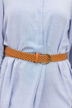 """""""Use Your Love Belt, Brown""""Use this lovely belt to dresses to help accentuate your waist and add some definition. Obviously you can also wear it with jeans and a tucked in blouse for a very crisp, put together look! #newarrivals #shopthemint"""
