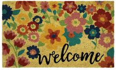 Mohawk Home Summer Floral Welcome Coir Doormat - 18 x 30 Coir Doormat, Mohawk Home, Rug Size, Floral, Summer, Sisters, Furniture, Home Furnishings, Flowers