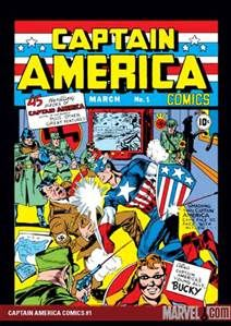 Captain America Comics Published: March 1941 by Marvel Comics. Writer: Jack Kirby Illustrator: Jack Kirby This is the first appearance of the iconic Captain America and in it he is shown punching Hitler. Marvel Comics, Marvel Comic Books, Comic Books Art, Hulk Comic, Star Comics, Jack Kirby, Marvel Girls, Marvel Universe, Valuable Comic Books