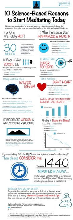 ~ 10 Scientifically Proven Health Benefits of Meditation [Infographic] ~  #start_meditating #meditate #meditation