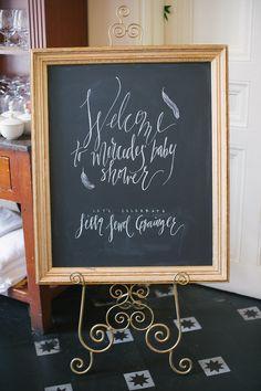 baby shower chalkboard sign
