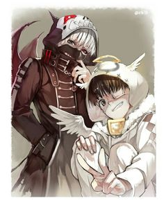 Devil Kaneki And Angel Kaneki!