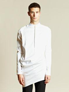 Thamanyah Men's Asymmetrical Hem Shirt | LN-CC