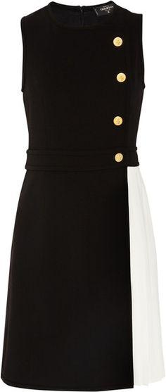 GIULETTA Woolblend and Pleated Crepe Dress