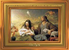 El nacimiento de Jesús http://www.riotarjetas.com/tarjetas_de_navidad.html Escena de la natividad con el bebé Jesús, la Madre María, y José. RioTarjetas.com