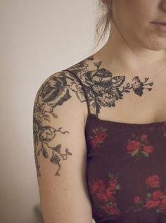 Shoulder Tattoo Designs For Girls - 55 Awesome Shoulder Tattoos  <3 !