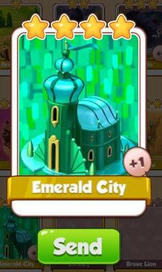 Emerald City Card - Oz Set - from Coin Master Cards - Tassie Books Game Cards, Card Games, Electronic Cards, Emerald City, Online Games, Coins, Messages, E Cards, Rooms