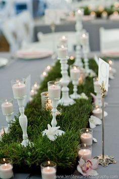 Grass table decor | katemillerevents