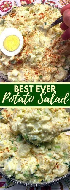 Best Potato Salad Recipe Ever #vegetarian #glutenfree #simplerecipes #potatoes #easysalad