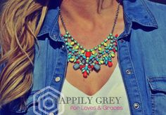 The Nayeli necklace from Mary of Happily Grey and Jewelry Nut Auctions  www.facebook.com/jewelrynutauctions