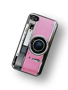 Retro Pink Camera iPhone Hard Case #phonecases #phonecase #case #cases #pink #photocamera #camera #photo