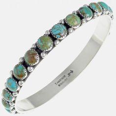 Turquoise Bangle Bracelet Navajo Silver