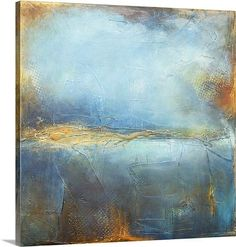 Deep Blue by Erin Ashley Painting Print on Canvas